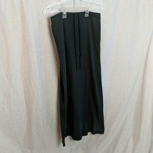Dark grey fleece skirt